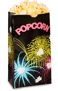 Theater Popcorn Bag 46oz Black Funburst 171 Bagcraft